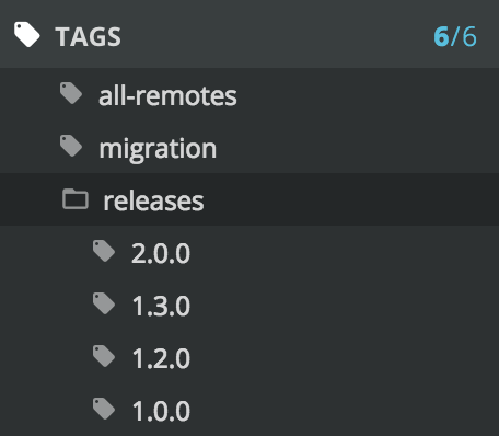 Tag filters as seen in GitKraken.