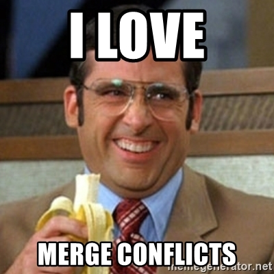 I love merge conflicts meme